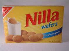 """Nabisco Nilla Wafers (from website w/lots o restaurant secret recipes).add an extra tsp of vanilla or two to make them more """"nilla"""" Dog Food Recipes, Snack Recipes, Dessert Recipes, Snacks, Desserts, Cracker Dip, Organic Granola, Wafer Cookies, Candy Cookies"""