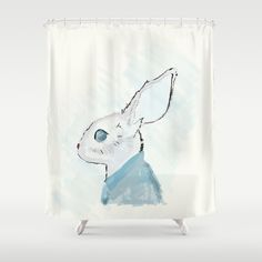 Rabbit in a suit Shower Curtain by emdesigns Design Lab, Rabbit, Curtains, Shower, Suits, Insulated Curtains, Rabbits, Outfits, Showers