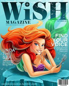 WiSH Magazine: Ariel Edition by racookie3 on deviantART