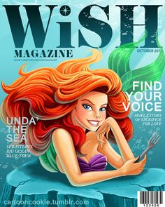 WiSH Magazine: Ariel Edition by racookie3 on deviantART