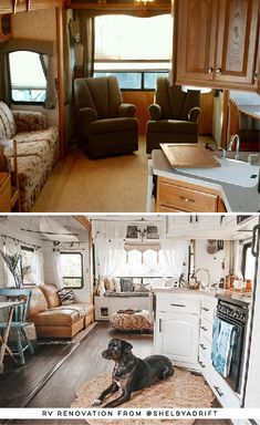 See how a couple transformed their outdated RV into a boho surf shack! Rv Living, Tiny Living, Surfing Lifestyle, Tiny House, Rv Redo, Camper Renovation, Camper Remodeling, Rv Interior, Surf Shack