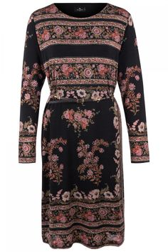 Etro Damen Kleid mit Blumenmuster Schwarz | SAILERstyle Dresses With Sleeves, Elegant, Long Sleeve, Fashion, Under Dress, Blouse, Trousers, Black, Gowns