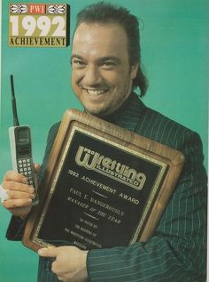 Paul E. Dangerously, or as he is now known, the advocate for the 1 in 21-1, Paul Heyman. Thank goodness he's in the WWE.