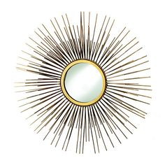 Pin for Later: 17 Pieces From World Market's Fall 2016 Collection That Will Blow You Away  Gold Metal Tri Sunburst Mirror ($100)