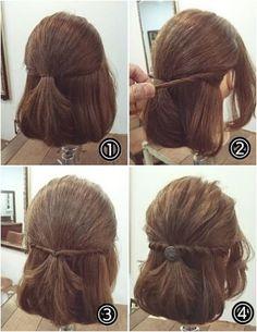 Haarschmuck - New Site Hairdos For Short Hair, Girls Short Haircuts, Trendy Hairstyles, Girl Hairstyles, Wedding Hairstyles, Medium Hair Styles, Short Hair Styles, Hair Arrange, Toddler Hair