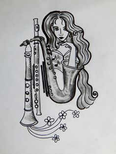 my drawing :) music muze