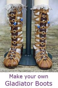 tutorial for gladiator boots by Martha Boers