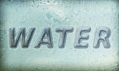 Create Glowing Text with Water Drops Texture and Layer Styles in Photoshop