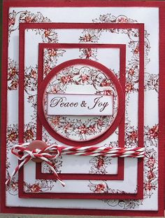 Triple Stamping Christmas card