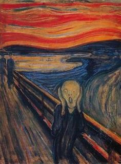 """Edvard Munch, died January 23, 1944. """"The Scream"""" is one of his most notable pieces. Norwegian Expressionist."""