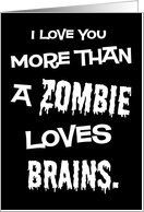 Zombie Brains Funny Valentine's Day Card by Greeting Card Universe. $3.00. 5 x 7 inch premium quality folded paper greeting card. Valentine's Day cards & photo Valentine's Day cards from Greeting Card Universe will bring a smile to your loved ones' face. We will mail the cards to you or direct to your loved ones. Let Greeting Card Universe help you find the best Valentine's Day card this year. This paper card includes the following themes: funny, valentine's day, and vday....
