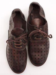 Guidi Bordeaux Punch Leather Shoe | Envoy of Belfast