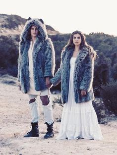 Grey Wolf Faux Fur Coat