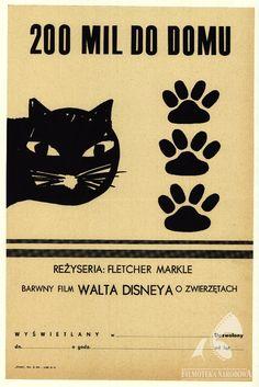 THE INCREDIBLE JOURNEY, dir. Fletcher Markle (1963).  #polishposter, #filmposter, #gapla