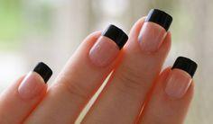 Black Nail Design French