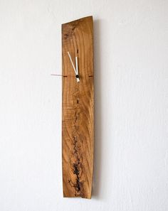 Large Wall Clock Modern Unique #Salvaged #Wood OAK 020