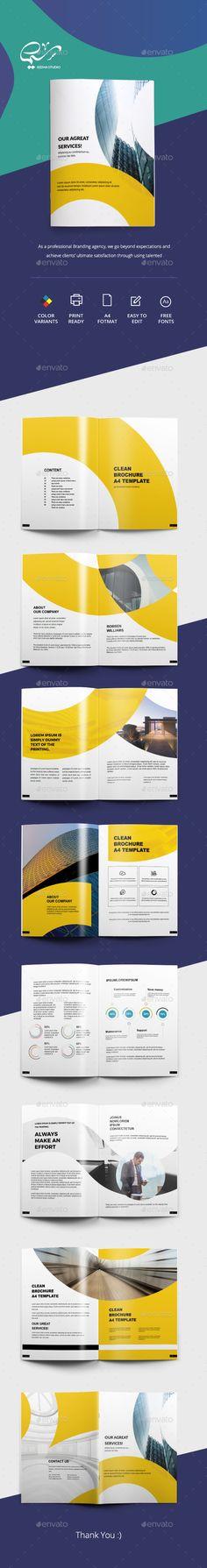 Business Brochure — InDesign INDD #professional #design • Download ➝ https://graphicriver.net/item/business-brochure/20336122?ref=pxcr