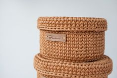 Crochet baskets with cowers, Small basket with lid, Crochet box with cover, Storage basket, Bathroo Diy Crochet Basket, Crochet Table Mat, Crochet Box, Crochet Round, Crochet Yarn, Crochet Hooks, Big Basket, Round Basket, Basket Shelves