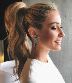 11 Ways to Take Your Ponytail to the Next Level Sublime ponytail on blonde hair Related Post 45 Elegant Ponytail Hairstyles for Special Occasio. Wedding Ponytail Hairstyles, Bridesmaid Hair Ponytail, Ponytail For Wedding, Ponytail Bridal Hair, Prom Ponytail Hairstyles, Ponytail Updo, Wedding Guest Hairstyles, Bun Hairstyle, Daily Hairstyles