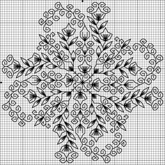 Link broken, but lovely Blackwork biscornu. Motifs Blackwork, Blackwork Cross Stitch, Biscornu Cross Stitch, Blackwork Embroidery, Cross Stitch Kits, Counted Cross Stitch Patterns, Cross Stitch Designs, Cross Stitching, Cross Stitch Embroidery
