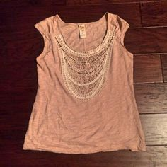 ANTHROPOLOGIE BEADED BLOUSE Anthropologie beige sleeveless blouse with fantastic beading detail! Looks great alone or with jackets/blazers. Like new condition! Anthropologie Tops Blouses