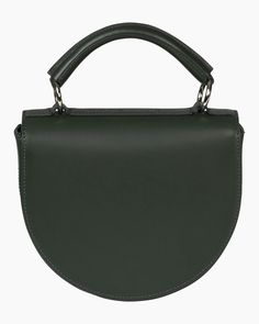 itta bag Green Leather, Leather Bag, Marimekko Bag, Italian Leather, Sale Items, Bag Accessories, Shoulder Strap, Dark, Handle