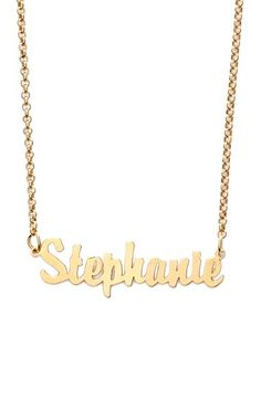 Argento Vivo Personalized Script Name Necklace || Nordstrom.com || A script-style precious-metal pendant necklace uses elegant cutouts to affirm your sense of personal identity.