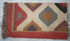 "VINTAGE JUTE DHURRIES RUG FLOOR MAT RUNNER INDIAN HANDMADE 36 x 60""INCHES KILIM #Turkish"
