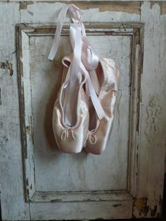 Ballet pointe shoes.