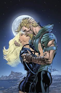 Green Arrow and Black Canary by Neal Adams
