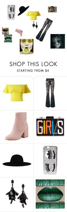 """tacky outfit"" by allison-orth ❤ liked on Polyvore featuring Miss Selfridge, Alice + Olivia, Sam Edelman, Chiara Ferragni and Oscar de la Renta"