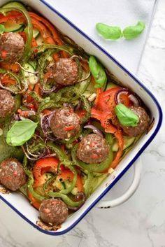 ovenschotel met gehaktballen en groente