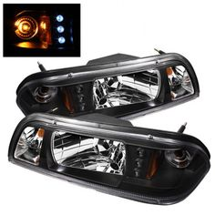 Spyder Auto 333-FM87-1PC-LED-BK | 1990 Ford Mustang Black LED Crystal Headlights for Coupe Black Headlights, Car Headlights, Car Ford, Car Lights, Custom Cars, Ford Mustang, Led, Halo, Crystals