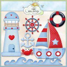 Good Ship Lollipop Sea 1 - Non-Exclusive Clip Art