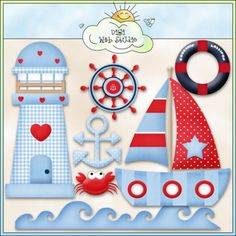 Good Ship Lollipop Sea 1 - Non-Exclusive Clip Art