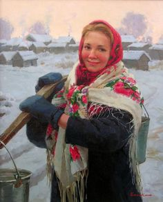 So it's cold, there's still joy and love in the world.  Sabbath.  Eugeni Balakshin (1962, Russian)