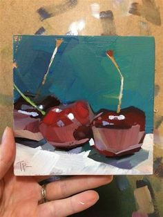 "Daily Paintworks - ""Cherry Warm Up"" - Original Fine Art for Sale - © Teddi Parker Painting Still Life, Still Life Art, Abstract Oil, Abstract Paintings, Art Paintings, Painting Art, Watercolor Painting, Landscape Paintings, Small Paintings"