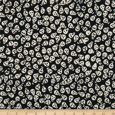 Tonga Batiks Spooky Skulls Black from @fabricdotcom  From Timeless Treasures, this Indonesian cotton batik fabric is perfect for quilting, apparel and home decor accents.  Colors include black, white and grey.