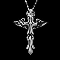 Angel Wings Cross Silver Cremation Jewelry Keepsake Funeral Men Pendant Necklace | eBay