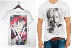 Collage and photographic t-shirts / Credits: Maisonhate.fr / Eleven Paris