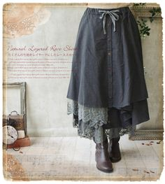 Favorite | Rakuten Global Market: Put a forest girl forest girl long skirt vintage Paris-like race on a forest girl style in one piece skirt summer in one piece natural fs2gm summer; and is at all long shot length skirt fs3gm where a curtain seems to be able to shake *