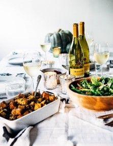 Wild rice + cornbread + Mirassou Chardonnay = Thanksgiving delight