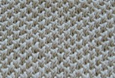 The Bee Stitch is an easy textured stitch pattern and it produces an interesting textured fabric. It is a variation of the garter stitch and the edges do not roll.