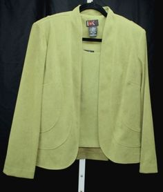 R-K-Originals-Womens-Green-Olive-Green-Moleskin-Jacket-and-Tank-Set-Size-14