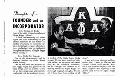Alpha Kappa Alpha Founders Beulah Burke and Nellie Quander in 1958. #sororityhistory #alphakappaalpha