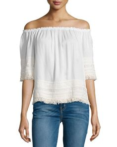 Lilita Off-The-Shoulder Top, White at CUSP.