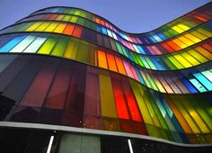 Adin Design's Rainbow-Hued Glass Facade Adds a Bright Splash o...