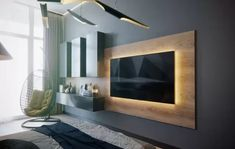 Modern LED TV Wall Panel Designs for Your Living Room - Amazing LED TV Wall Panel Design Ideas If you have a LED Tv and you want some good wall panel desig - Tv Wall Panel, Wall Panel Design, Tv Wall Design, House Design, Wall Tv, Tv Wall Hanging, Bedroom Tv Wall, Tv Stand In Bedroom, Living Room Tv Unit Designs