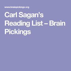 Carl Sagan's Reading List – Brain Pickings