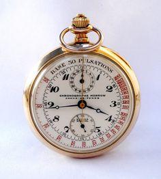 Vintage Reloj De Bolsillo Suizo MORROW Chronograph por shopvintage1